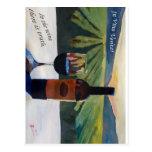 En el vino Veritas - la verdad está en el vino Tarjetas Postales