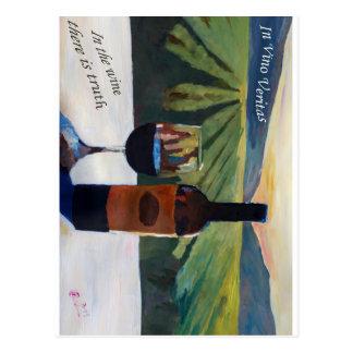 En el vino Veritas - la verdad está en el vino Postal