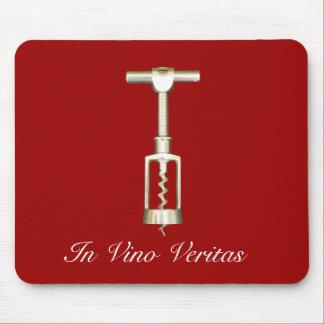 En el vino Veritas Mousepad Alfombrillas De Raton