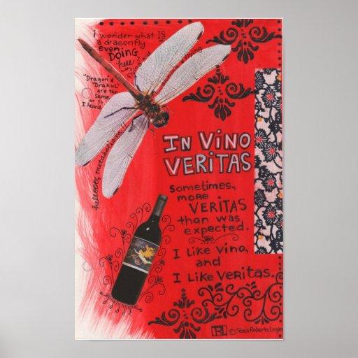 En el vino Veritas Posters