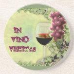 En el vino Veritas Posavasos Personalizados
