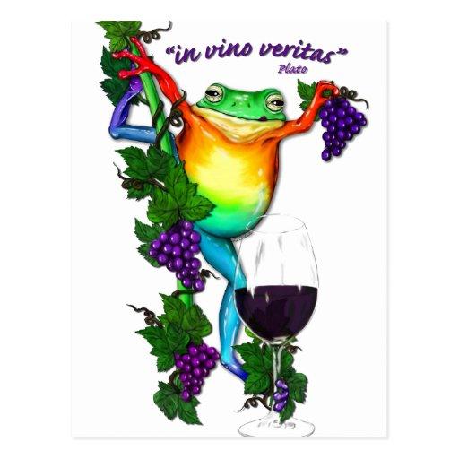 En el vino Veritas Tarjetas Postales