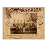 """En el vintage de Trocadero, """"de la avenida de Mich Tarjeta Postal"""