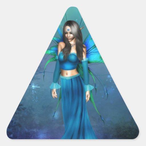 En el zafiro pegatina triangular
