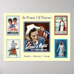 En elogio a enfermera del vintage del ~ de las enf posters