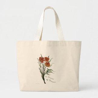 En elogio a las flores bolsa tela grande