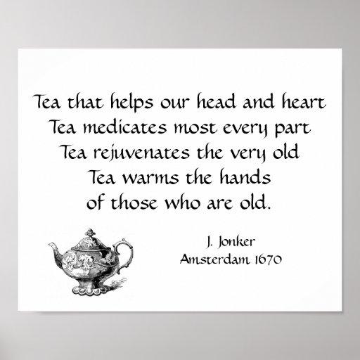 En elogio a té póster