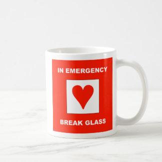 En emergencia, vidrio de la rotura - taza