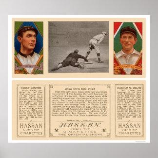 En en el tercer béisbol 1912 de los yanquis poster