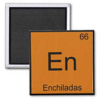 En - Enchiladas Funny Chemistry Element Symbol Tee 2 Inch Square Magnet