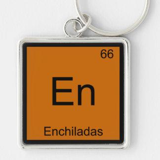 En - Enchiladas Funny Chemistry Element Symbol Tee Keychains