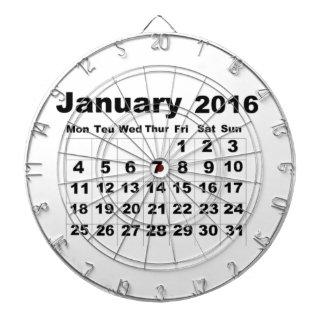 En enero de 2016 calendario