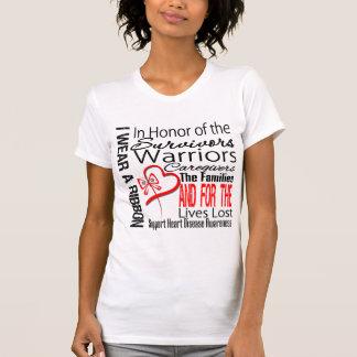 En enfermedad cardíaca del tributo del collage del camisetas
