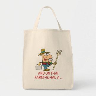 EN ESA GRANJA ÉL TENÍA el viejo granjero del macdo Bolsa