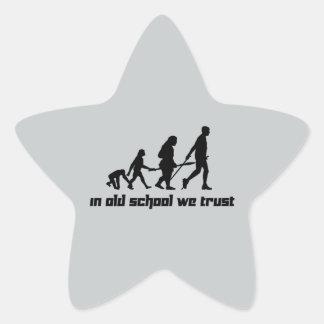 En escuela vieja confiamos en pegatina en forma de estrella