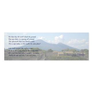 """""""En ese día la tierra…"""" señal de la poesía Tarjetas De Visita Mini"""