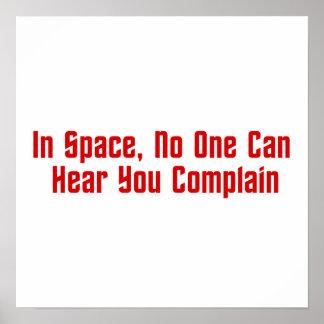 En espacio, nadie puede oírle quejarse impresiones