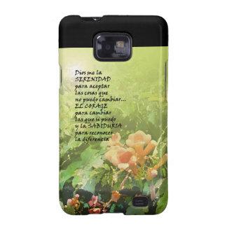En Español de La Oración de la Serenidad Samsung Galaxy SII Fundas