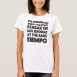 En español/ingles del graciosa del camiseta de