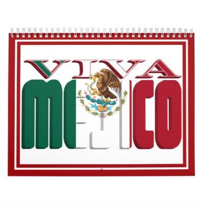 En Espanol - marco de la foto de VIVA MEJICO Calendario De Pared