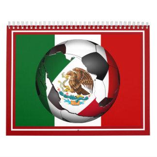 En Espanol - marco de la foto del balón de fútbol Calendarios