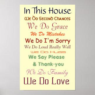 En esta casa amamos el poster póster
