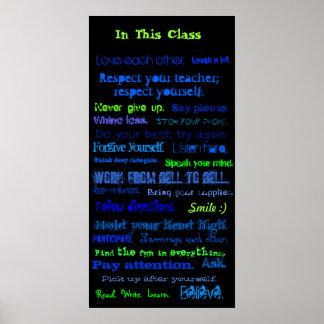 En esta clase, ámese., risa mucho.,… póster