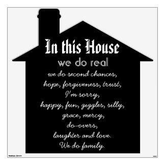 En esta etiqueta de la pared de la cita de la casa vinilo adhesivo