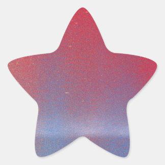 En este crepúsculo pegatina en forma de estrella