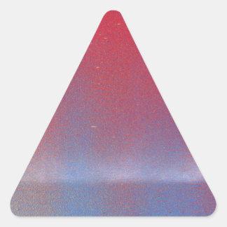 En este crepúsculo pegatina triangular