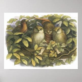 En Fairyland: Hada con los búhos, 1870 Impresiones