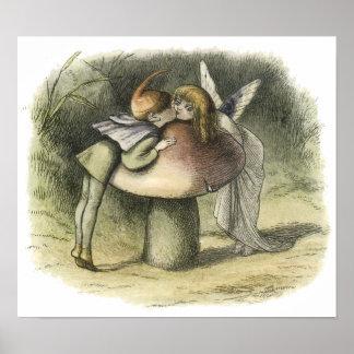 En Fairyland: Un beso de hadas, 1870 Posters