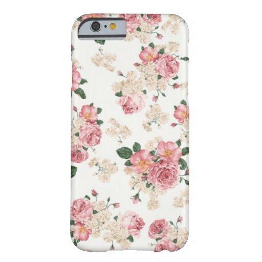 En floral blanco y rosado de la floración funda de iPhone 6 barely there