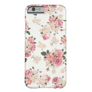 En floral blanco y rosado de la floración funda para iPhone 6 barely there