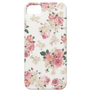 En floral blanco y rosado de la floración iPhone 5 carcasa