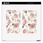 En floral blanco y rosado de la floración skin para kindle fire