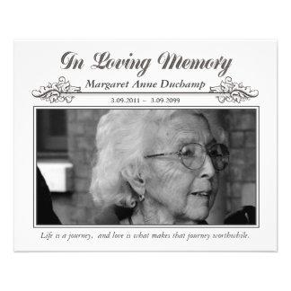 En foto fúnebre de la memoria cariñosa de Memoriam Flyer A Todo Color