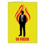 En Fuego Tarjeta De Felicitación