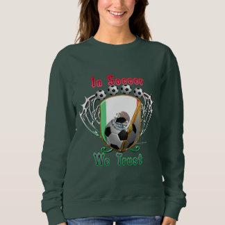 En fútbol confiamos en la camiseta de las señoras polera