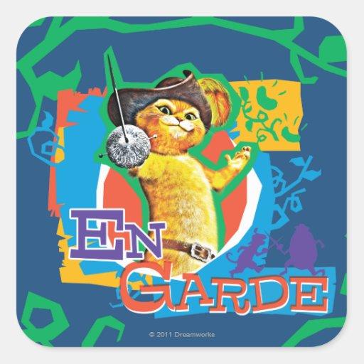 En Garde Square Sticker