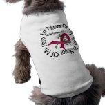 En honor de mi anemia de la célula falciforme del  camiseta de mascota