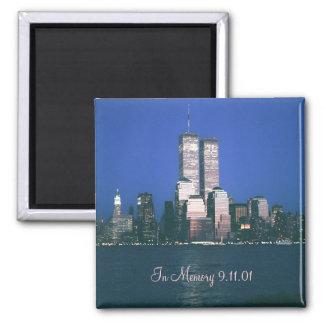 En imán del refrigerador de la memoria 9 11 01