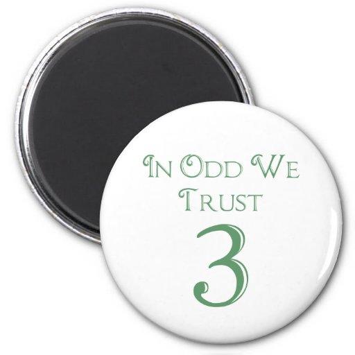 En impar confiamos en imán redondo 5 cm
