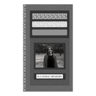 en invitaciones cariñosas del funeral de la memori tarjetas de visita