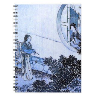 En Japón viejo (versión azul) Libretas Espirales