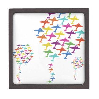 En la aviación del vuelo del globo del aeroplano d cajas de joyas de calidad