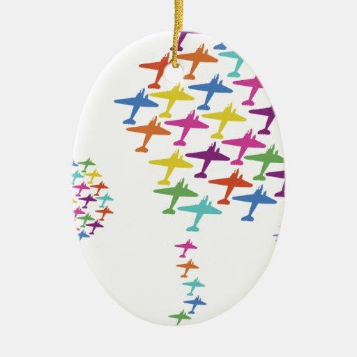 En la aviación del vuelo del globo del aeroplano ornamente de reyes