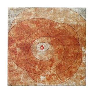 En la base de Paul Klee Azulejo Cuadrado Pequeño