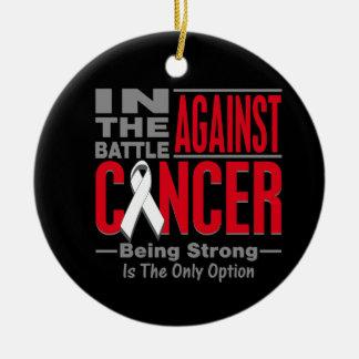 En la batalla contra cáncer de hueso adorno redondo de cerámica