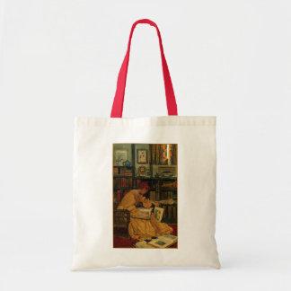 En la biblioteca bolsa